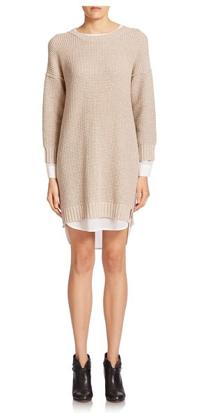 Brochu Walker Looker layered waffle-stitch dress in dunemelange - Waffle stitches lend modern texture to this wool-and...