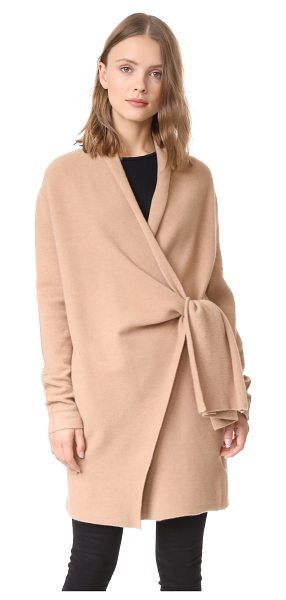 Brochu Walker savannah wrap coat in camello - This cozy Brochu Walker sweater coat has a loose fit and...