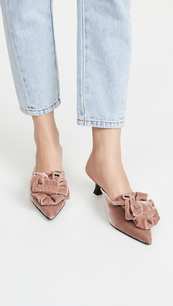 BROCK COLLECTION bow mules in roseo