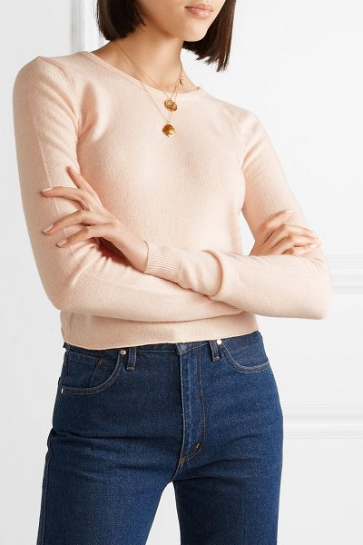 BROCK COLLECTION open-back cashmere sweater in pastel pink