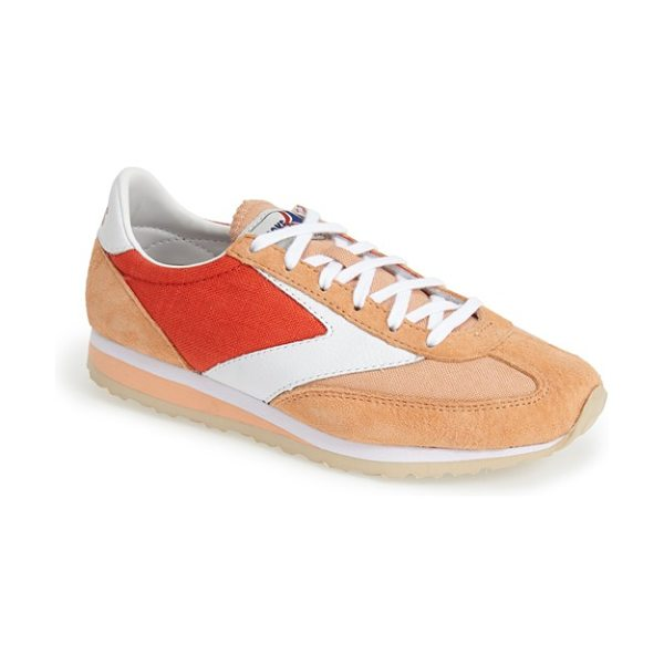 Brooks vanguard sneaker in grenadine/ apricot - Revisit the thrill of the '70s running boom with the...
