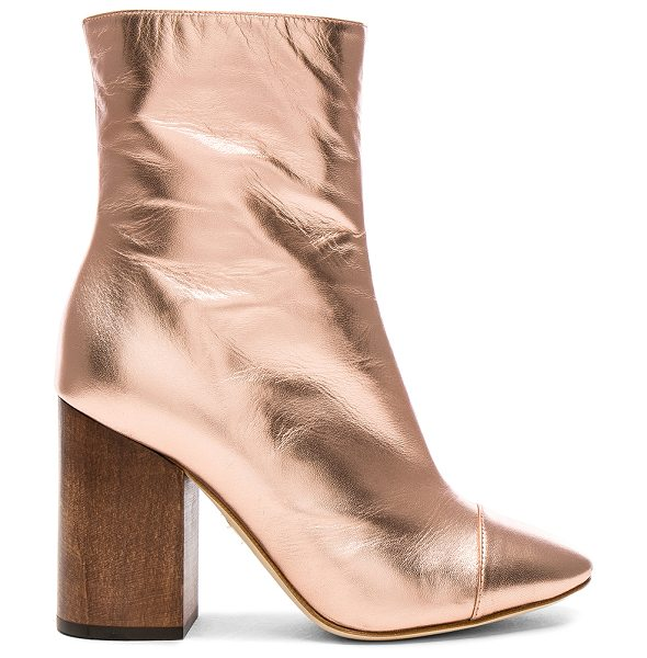 Brother Vellies Leather Bianca Boots in pink,metallics - Leather upper and sole.  Made in Italy.  Shaft measures...