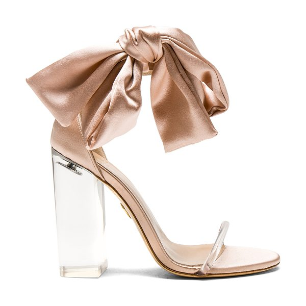 Brother Vellies Satin Caroline Heels in sahara - Satin upper with leather sole. Made in Italy. Approx...