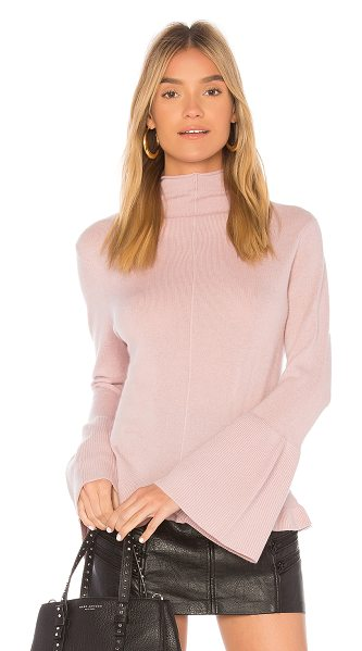 BROWN ALLAN x REVOLVE The Bell Sleeve Sweater in pink - 90% extra fine merino wool 10% cashmere. Hand wash cold....