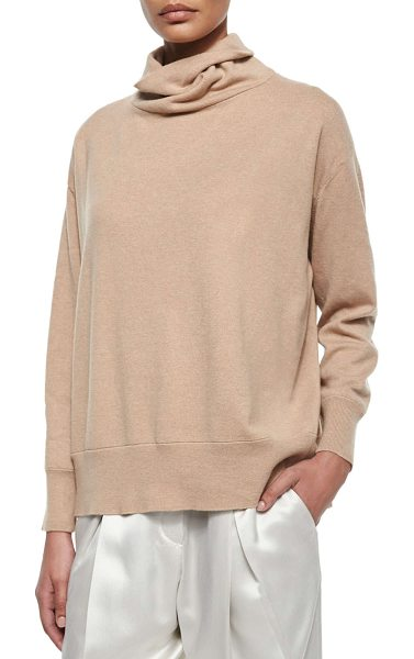 Brunello Cucinelli Cashmere oversized turtleneck sweater in toffee - Brunello Cucinelli cashmere sweater. Slouchy turtleneck....