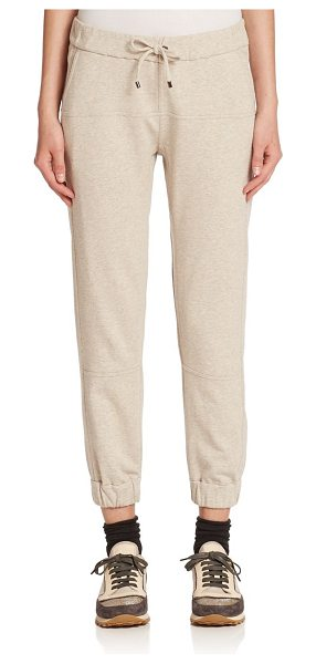 BRUNELLO CUCINELLI Felpa cotton knit sweat pants - Kick back in the softness of Italian cotton knit,...