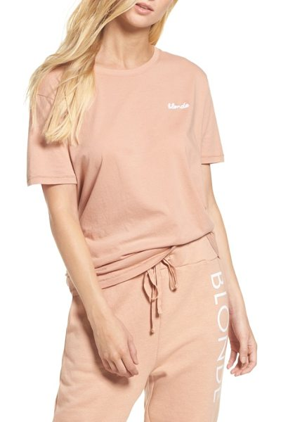 BRUNETTE the Label blonde tee in beige - No matter your hair color, you'll feel comfy and cozy in...