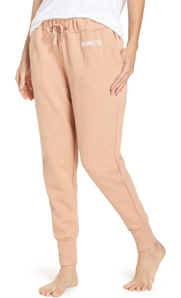 BRUNETTE the Label brunette jogger pants in rose - Relax and reset from the day in soft, slouchy jogger pants.