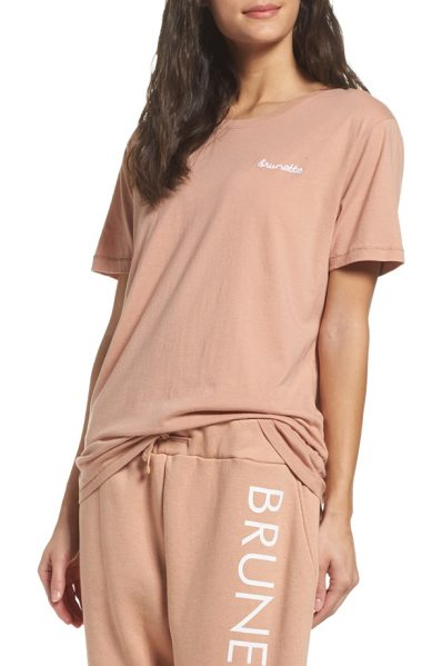 BRUNETTE the Label brunette tee in rose - No matter your hair color, you'll feel comfy and cozy in...