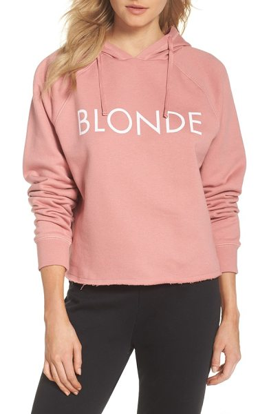 BRUNETTE the Label blondie raw hem hoodie in coral - No matter your hair color, you'll feel comfy and cozy in...