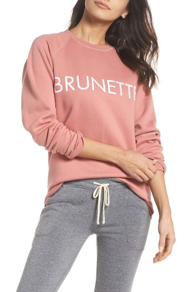 BRUNETTE the Label brunette crewneck sweatshirt in dusty rose