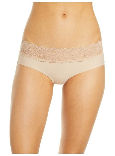 B.Tempt'D By Wacoal b.temptd by wacoal b.bare hipster panties in beige