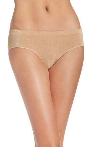 B.Tempt'D By Wacoal hipster briefs in au natural heather - Full-coverage hipster briefs in supersoft heathered...
