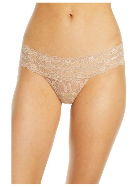 B.Tempt'D By Wacoal b.temptd by wacoal lace kiss thong in beige