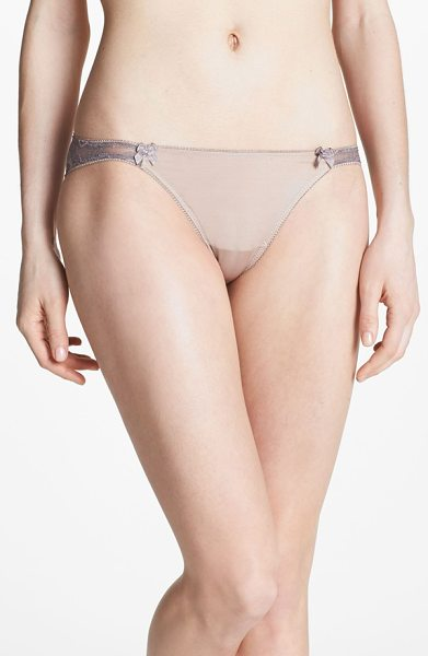 B.Tempt'D By Wacoal most desired bikini in au natural - A waistband of lavish floral lace charms a barely there...