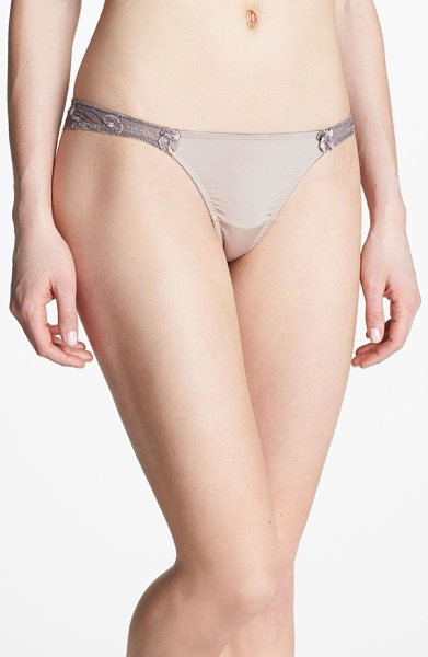 B.Tempt'D By Wacoal most desired thong in au natural - A waistband of lavish floral lace charms a barely there...