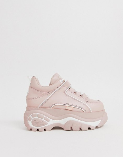 Buffalo london flatform chunky sneakers in pink in babypink