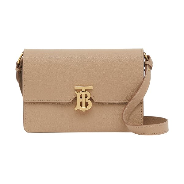Burberry Albion TB Grainy Crossbody Bag in archive beige