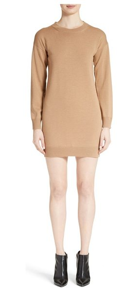 Burberry alewater elbow patch merino wool dress in camel - Check-patterned elbow patches add preppy, heritage...