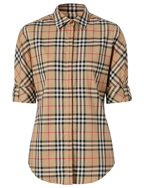 Burberry archive check shirt in archive beige