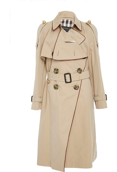Burberry Asymmetrical Drape Trenchcoat in tan - The *Burberry* trench coat has been a staple in fashion...