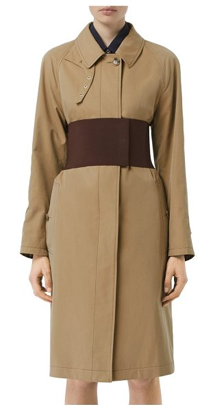 Burberry belted car coat in beige - From his debut collection, Riccardo Tisci's version of...