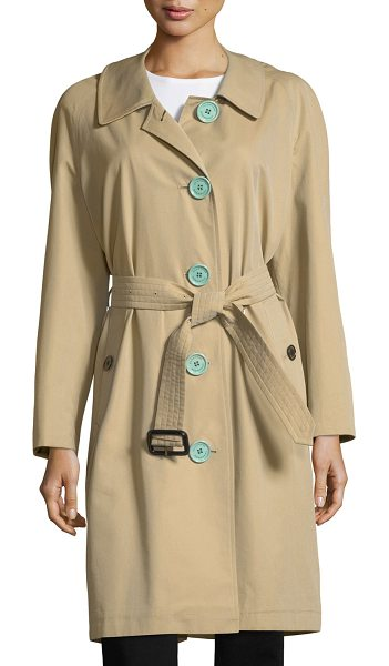 "Burberry Brinkhill Oversized Button Trench Coat in light brown - Burberry ""Brinkhill"" trenchcoat in gabardine. Approx...."