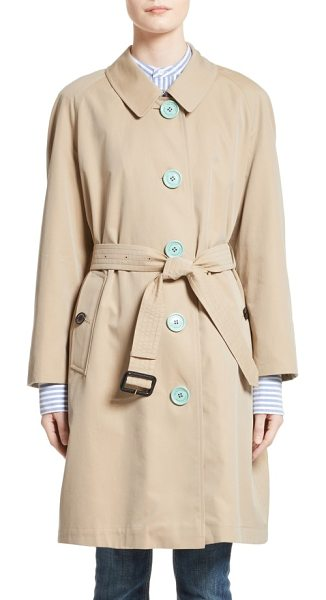 Burberry brinkhill trench coat in honey - Pastel buttons add a pop of fresh color to a timeless...
