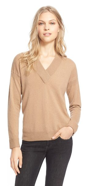 Burberry Brit cashmere v-neck sweater in camel