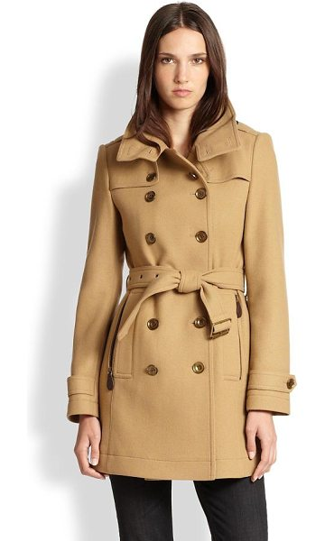 Burberry Brit daylesmoores coat in camel - The classic silhouette Burberry Brit is known for,...