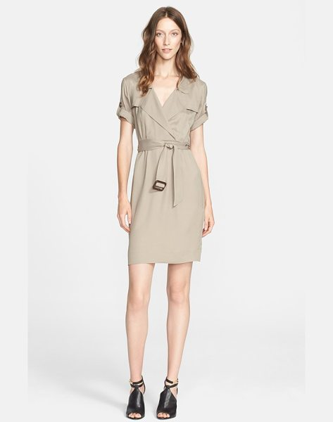 BURBERRY BRIT roll sleeve wrap front shirtdress - Trench-inspired details-a notch collar, double gunflaps...