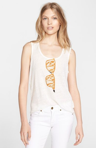 Burberry Brit sunglasses screenprint tank in light copper - You're ready for anything (according to the playful...
