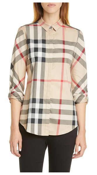 Burberry check shirt in beige