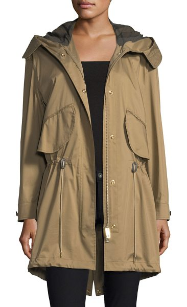 "Burberry Chiltondale Hooded Drawstring Parka in brown - Burberry ""Chiltondale"" military-style parka in twill...."
