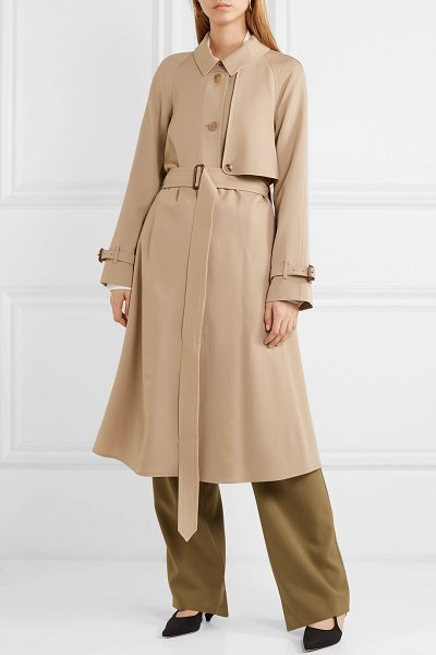 Burberry the cinderford wool-gabardine trench coat in beige