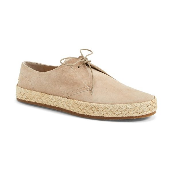 Burberry collingo espadrille in light nude - A jute-wrapped bumper sole lends summery appeal to an...