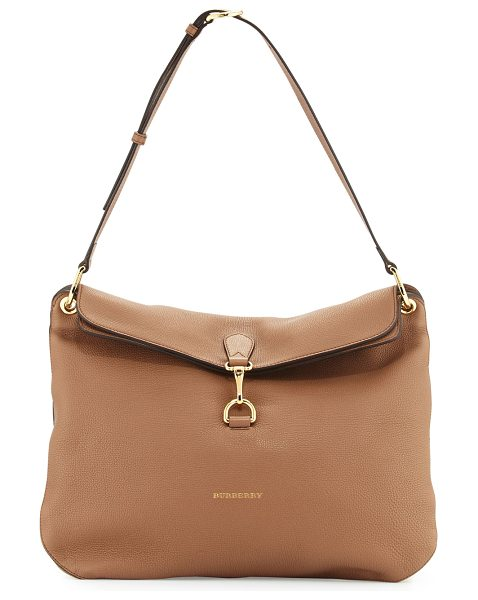 Burberry Cornwall Medium Derby Shoulder Bag in dark sand - Burberry medium shoulder bag in derby leather. Golden...