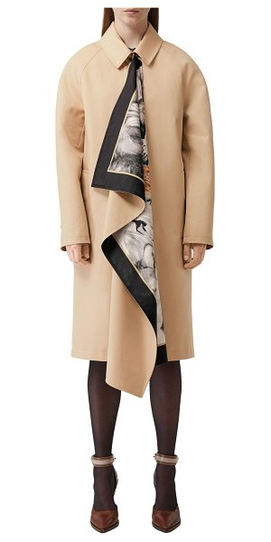 Burberry Cotton twill trench coat in honey