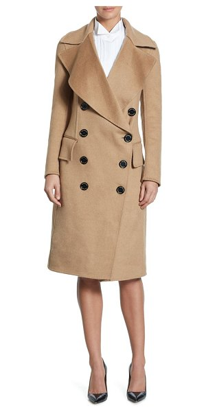 BURBERRY crewdale camel hair peacoat - Luxe camel hair peacoat in double-breasted style....
