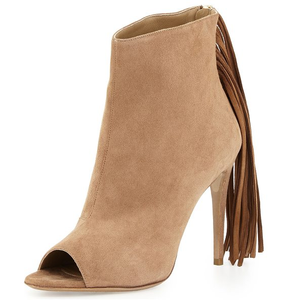 Burberry Danielle Suede Fringe Bootie in bronze amber - ONLYATNM Only Here. Only Ours. Exclusively for You....