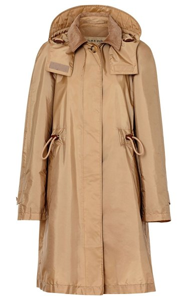 Burberry gullane car coat parka in honey - This crinkled windbreaker with the utilitarian...