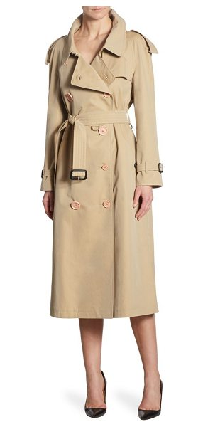 BURBERRY oversized trench coat in honey - Classic trench coat in classic double-breasted design....