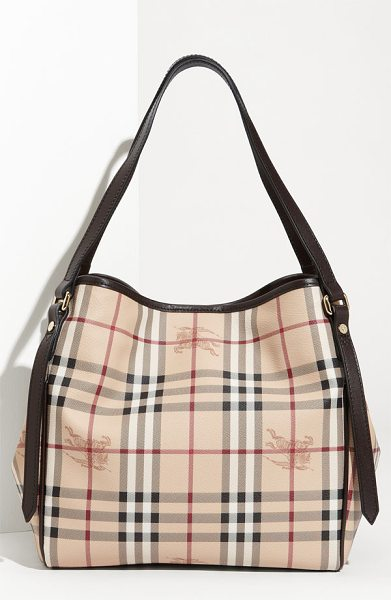 BURBERRY Haymarket check - Shadowy equestrian logo crests mingle with classic...