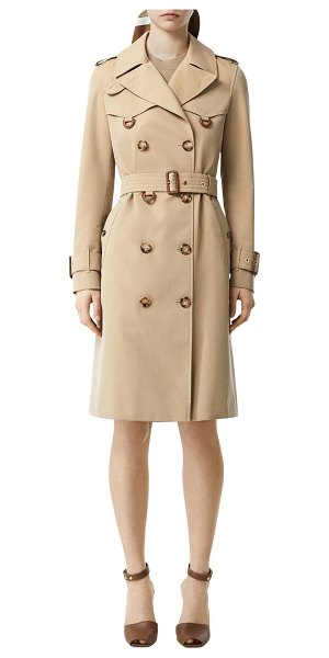 Burberry Islington cotton canvas trench coat in beige