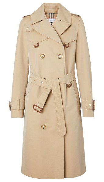 Burberry islington double-breasted trench coat in honey