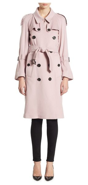 BURBERRY cashmere trench coat - Elegant trench coat in luxurious double-breasted detail....