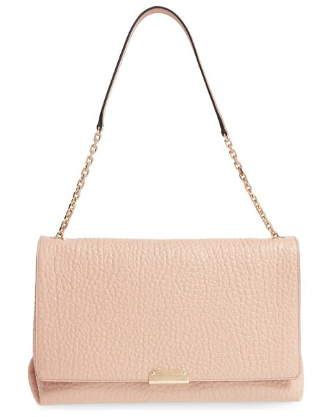 Burberry Large mildenhall signature grain leather shoulder bag in pale apricot