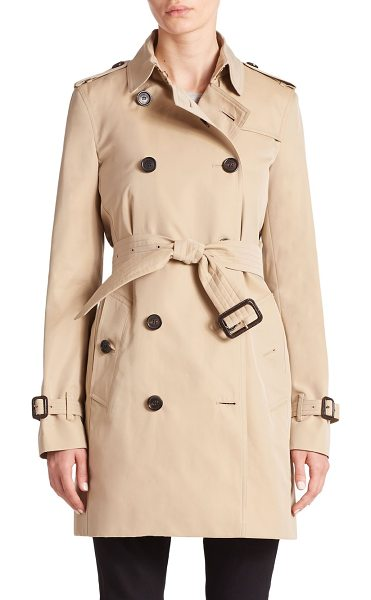 Burberry London Heritage kensington liner in camel - Cut from luxe cashmere and decorated with the house's...