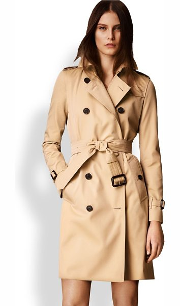 Burberry London kensington long heritage trench coat in honey - Cut from fine cotton gabardine and lined the house's...