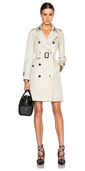 Burberry London Kensington long trench coat in neutrals - Self & Lining: 100% cotton - Lining 2: 100% viscose. ...